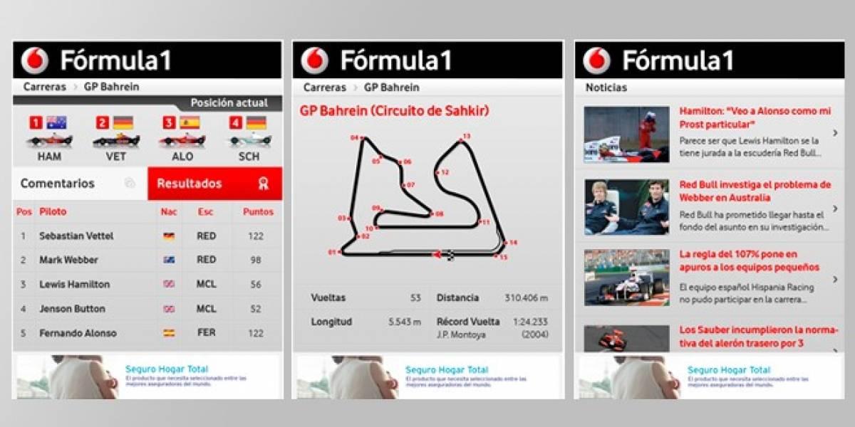 Vive la Fórmula 1 desde tu Android o Blackberry