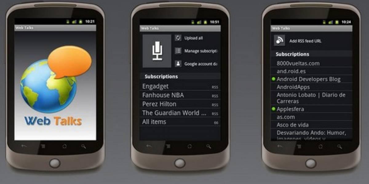 Web Talks 2.0 para Android ya disponible