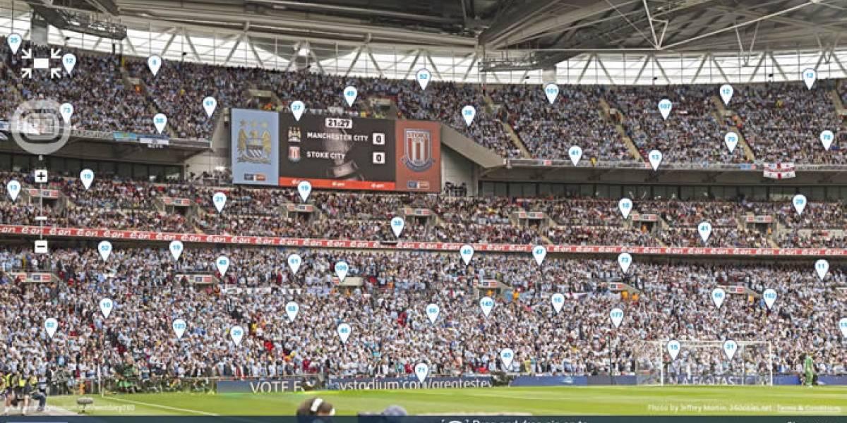 Panorámica de 10 gigapixeles de Wembley es la más grande del deporte