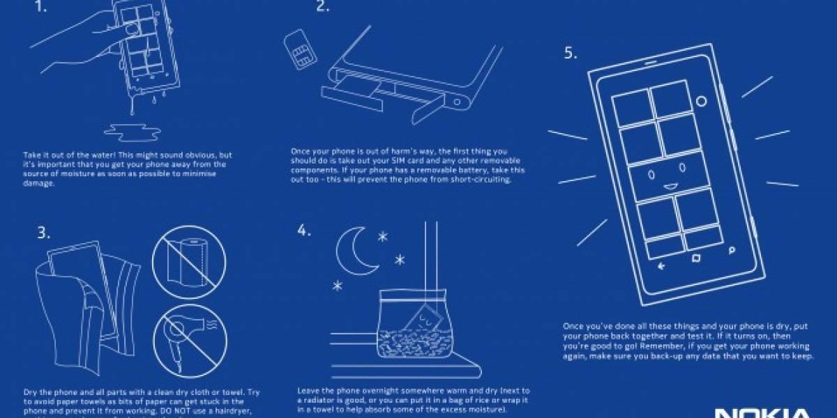 Según Nokia, es verdad: Los móviles mojados se salvan con arroz