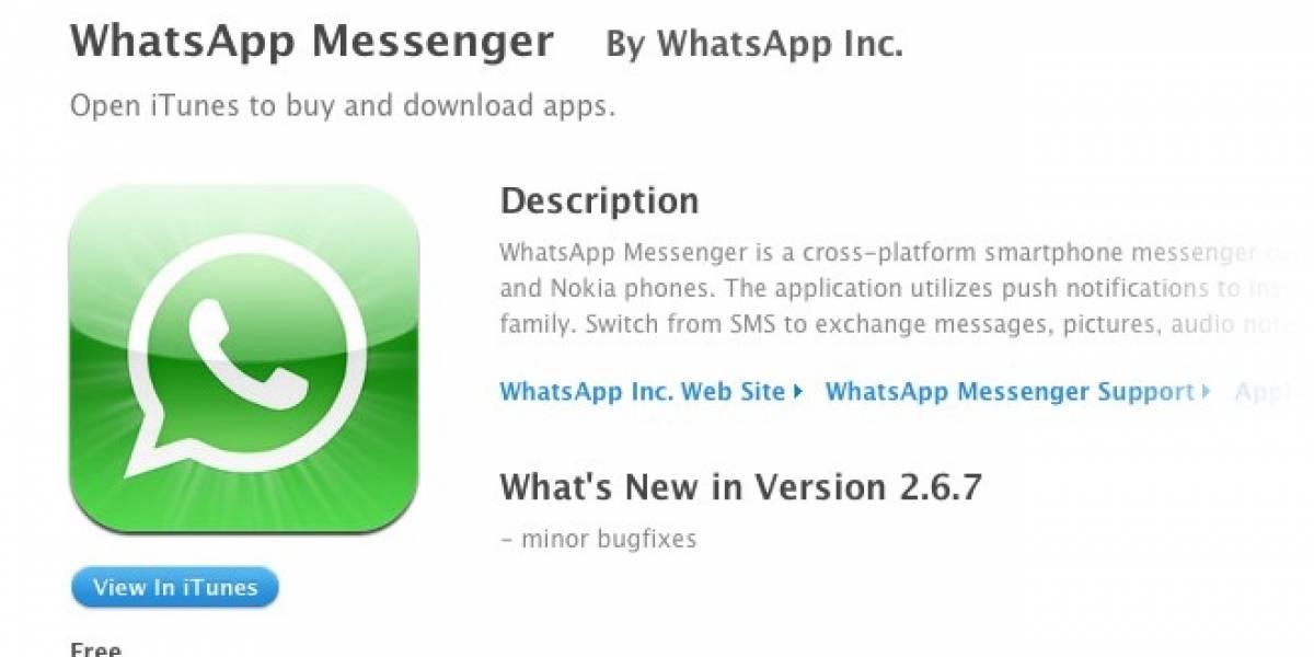 WhatsApp vuelve a ser gratuita por tiempo limitado en la AppStore