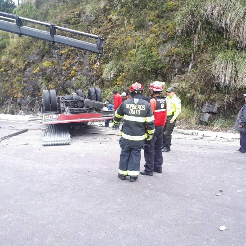 Accidente de tránsito en Papallacta