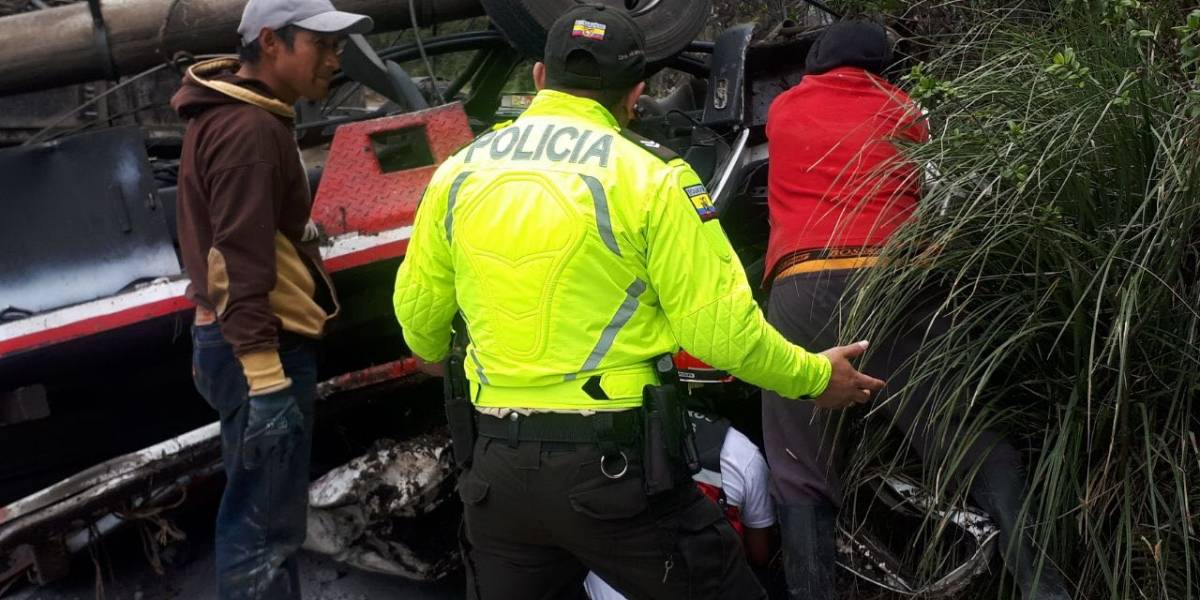 Se reporta un accidente de tránsito en la vía Papallacta