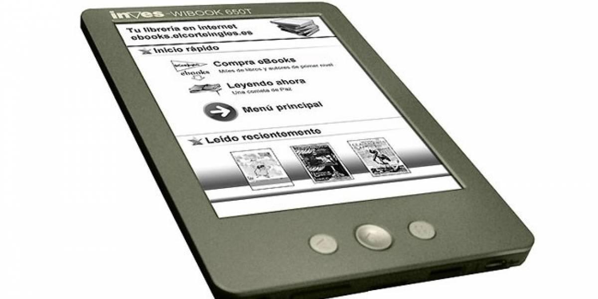 España: Llega Inves Wibook 650T, el eReader de El Corte Inglés