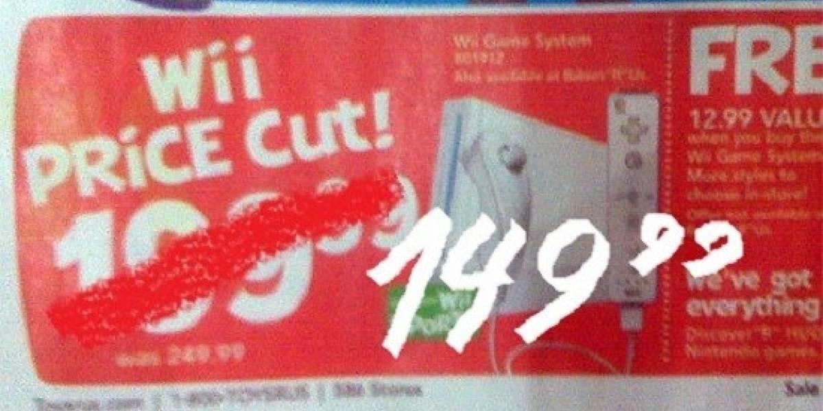 Futurología: se viene rebaja de precio oficial de la Wii