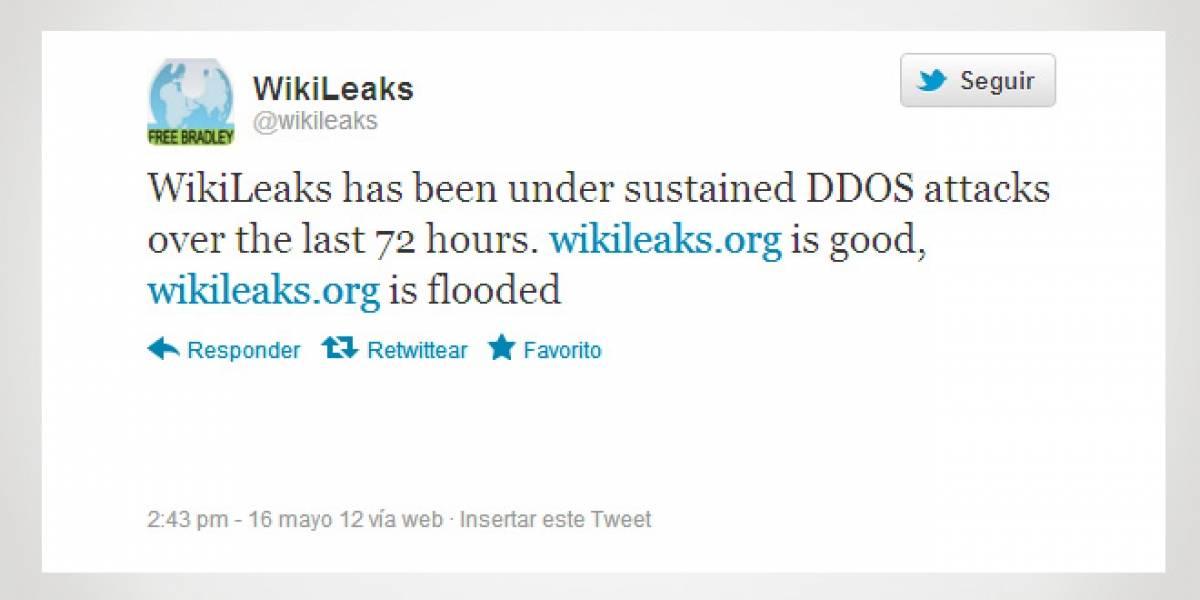 WikiLeaks también estaría afectado por un ataque DDoS