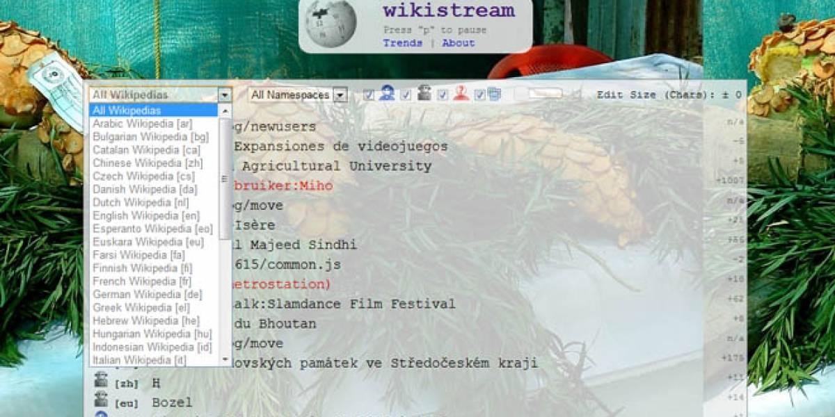 Así se edita la Wikipedia en tiempo real