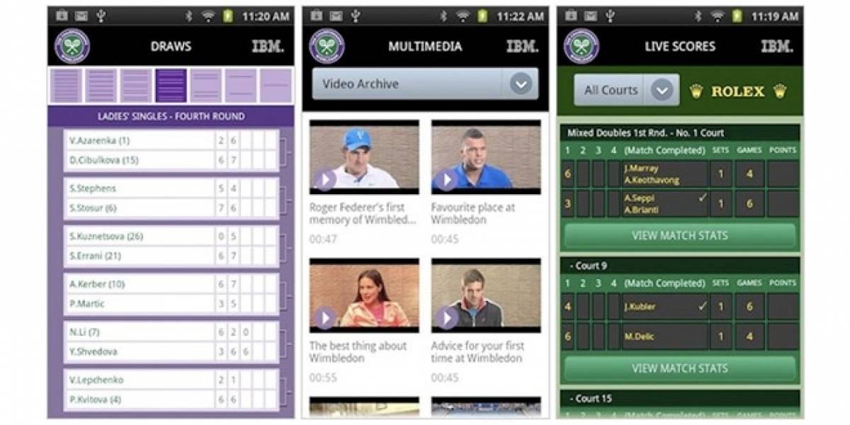 Mantente informado sobre el Torneo de Wimbledon con su app oficial
