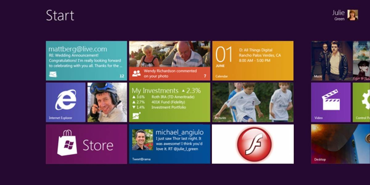 Adobe trabajaría en el soporte de Flash Player para Windows 8