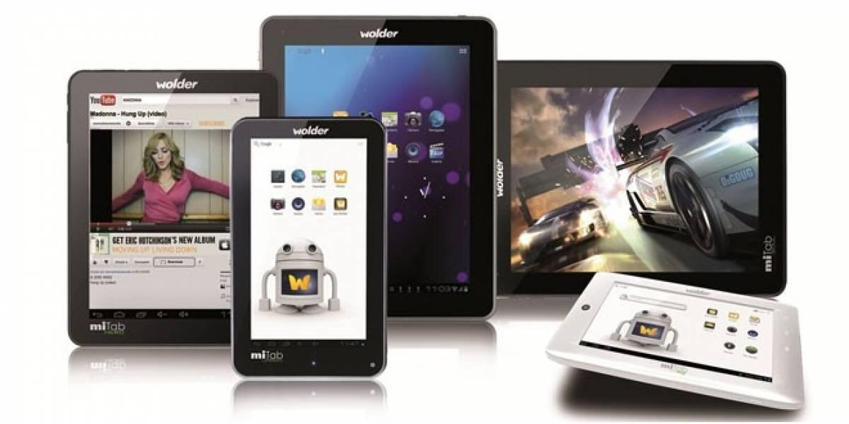 La española Wolder Electronics amplía su oferta de tablets Android