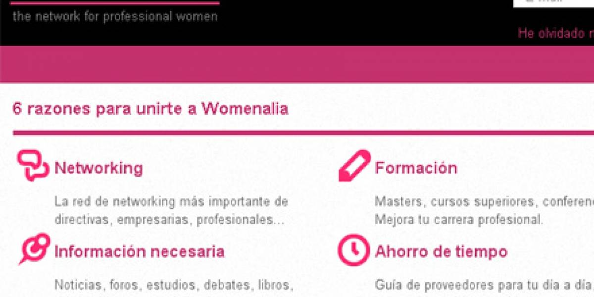 Womenalia: Un 'LinkedIn' exclusivo para mujeres