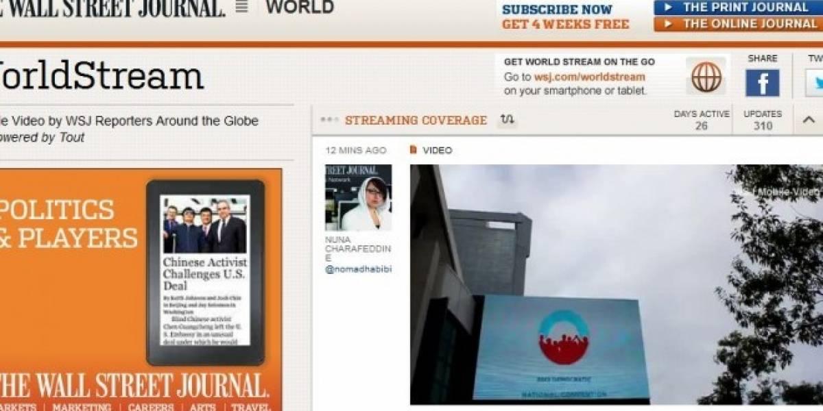 El diario Wall Street Journal lanza plataforma de videos grabados con smartphones