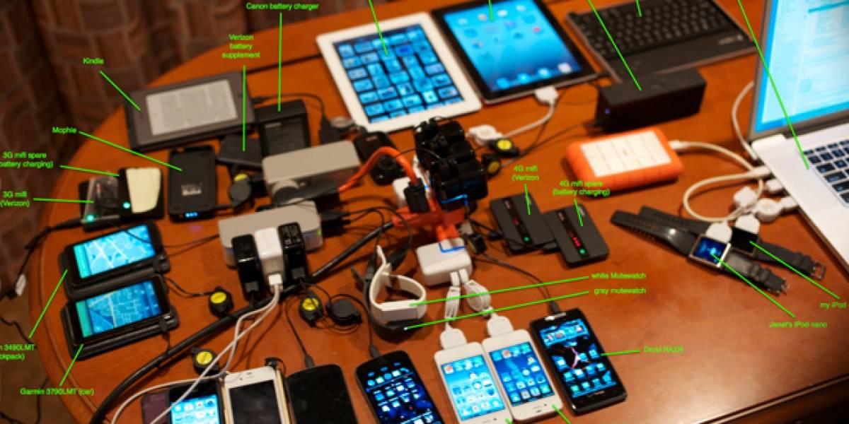 Así es el interior del bolso de Steve Wozniak
