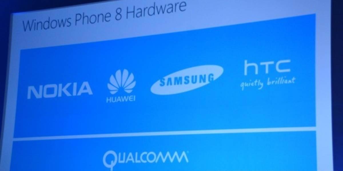 HTC, Nokia, Huawei y Samsung tendrán los primeros equipos con Windows Phone 8