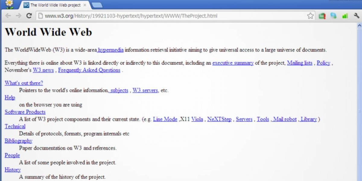 Visita la primera página web del mundo, creada hace más de 20 años