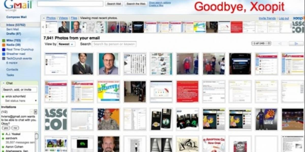 Se acabó Xoopit para Gmail