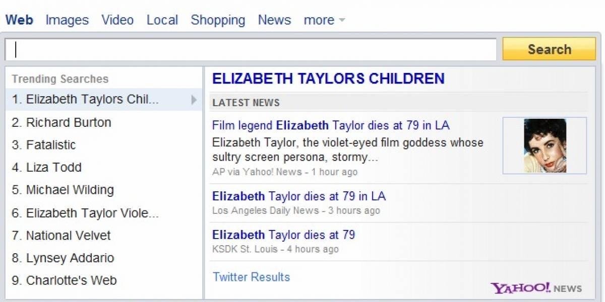 Yahoo quiere volver a ser popular y lanza búsquedas instantáneas