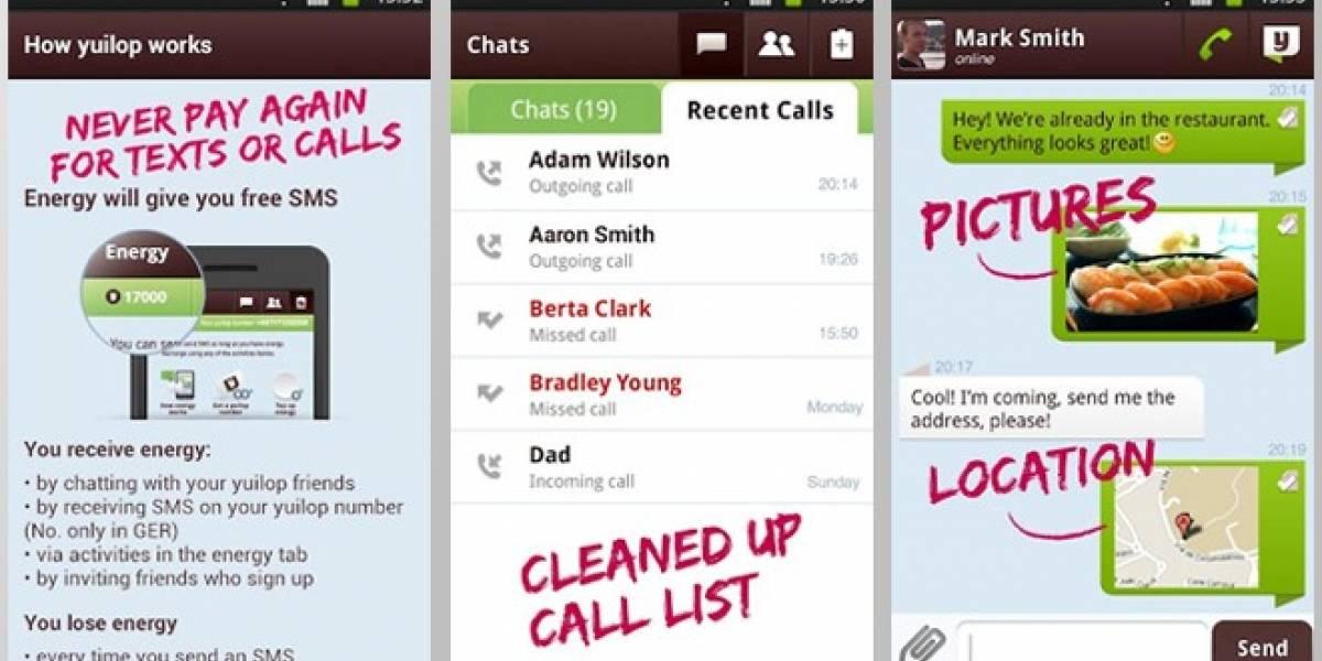 Yuilop, una aplicación para llamar y mandar sms... completamente gratis