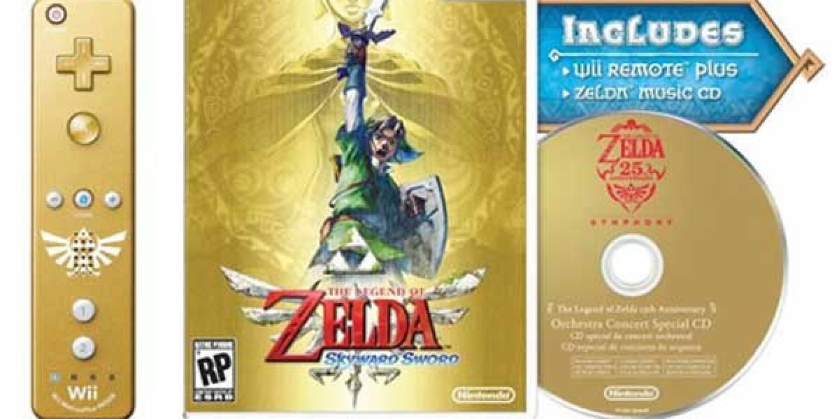 El nuevo juego de Zelda para Wii tendrá edición limitada dorada