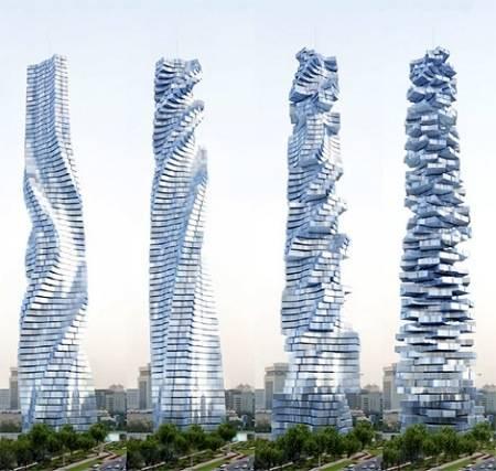 Dynamic tower de dubai un edificio que gira para cambiar for Edificio movil en dubai