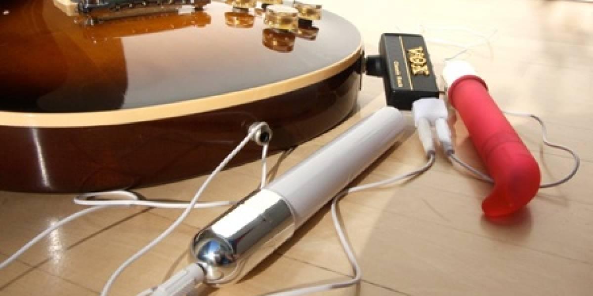 Impresentable: Guitarra eléctrica + miniamplificador + vibrador