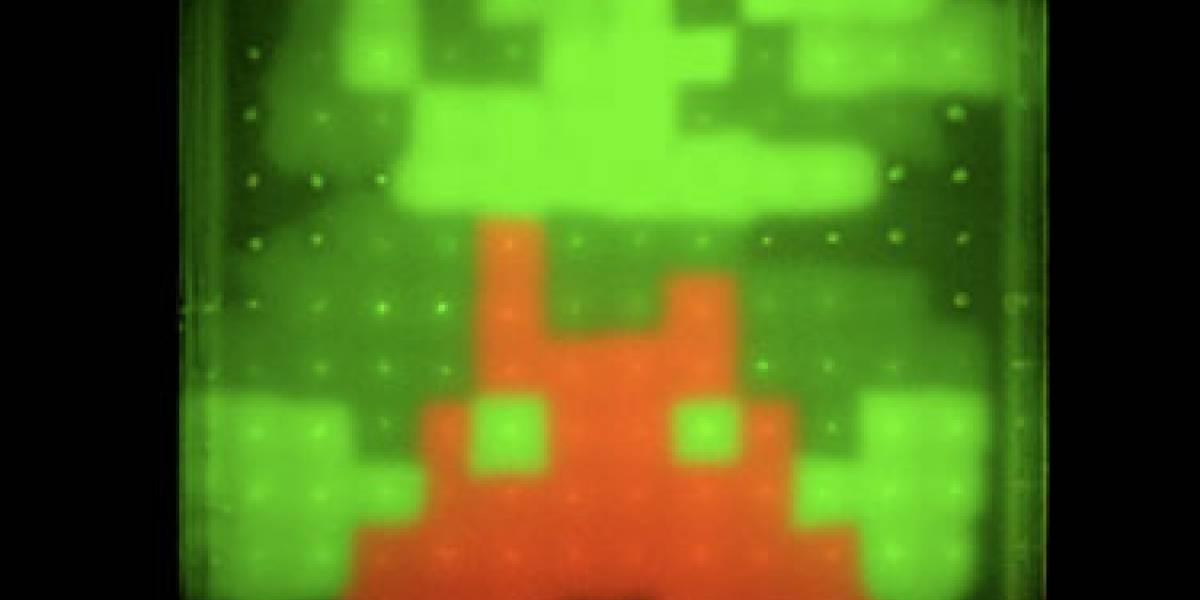 Japoneses crean Mario fluorescente de bacterias modificadas genéticamente