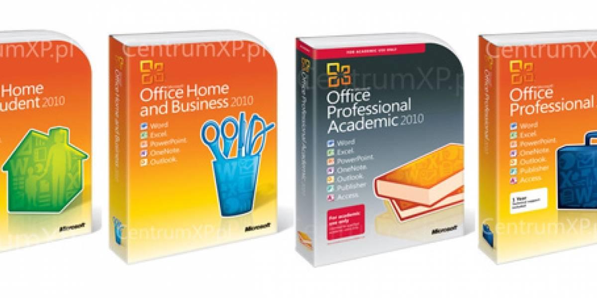 Ya tienen precio las ediciones de Microsoft Office 2010