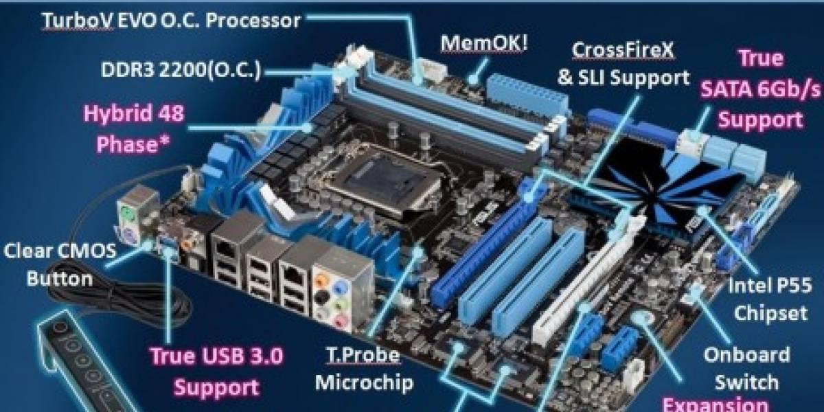 ASUS y Gigabyte presentan placas con USB 3.0 y SATA 6 Gbps