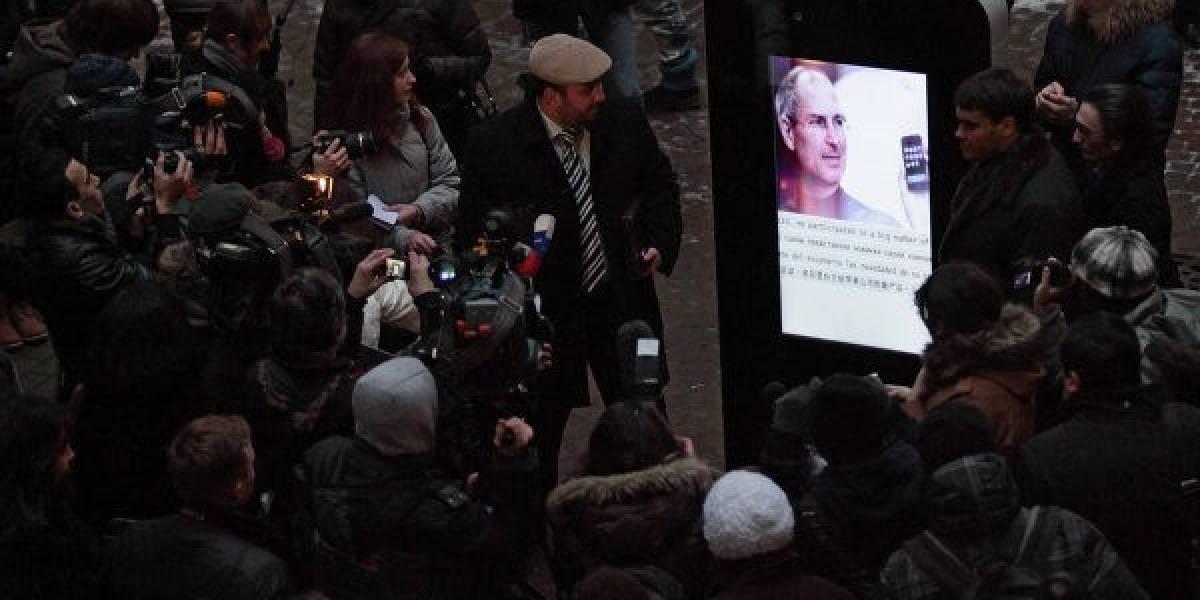 Universidad Rusa devela un memorial para Steve Jobs en San Petersburgo