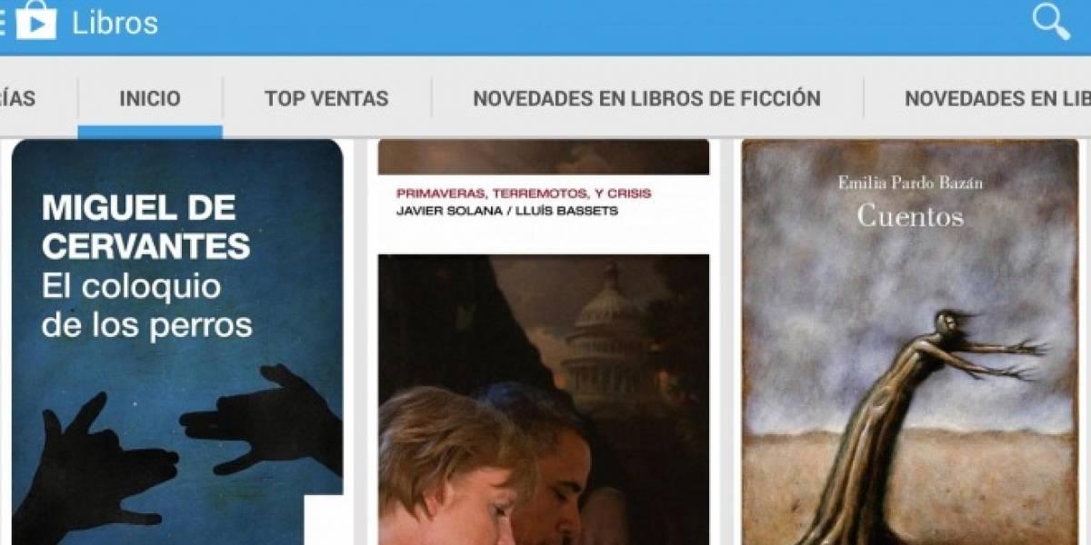Google Play Books llega a Argentina, Chile, Colombia, Perú y Venezuela