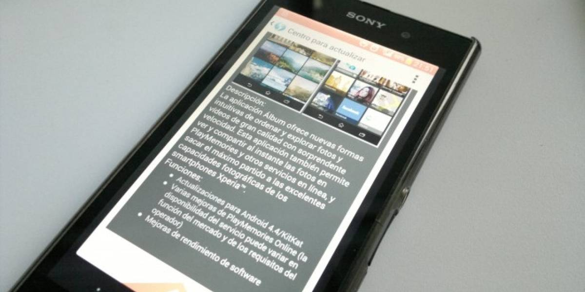 Sony lanza actualización de su galería de imágenes compatible con Android 4.4 KitKat