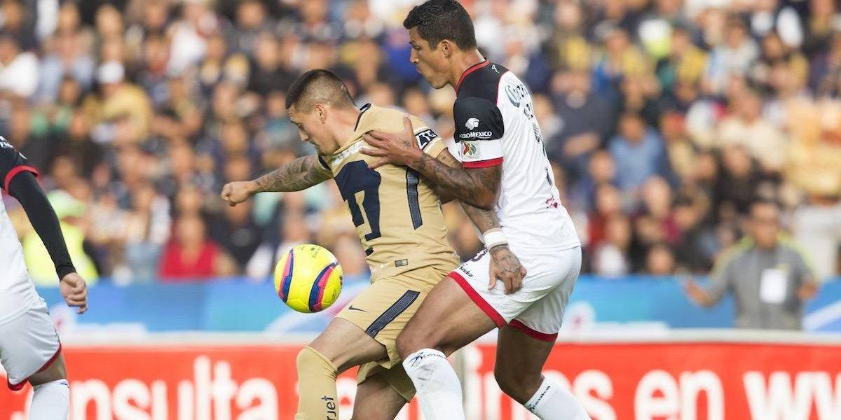 Pumas rescata el empate en su visita a Lobos; Castillo falla un penal