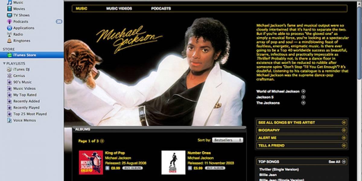 Michael Jackson vende 1 millón de descargas en una semana