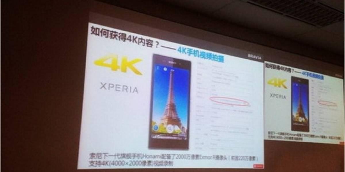 Sony Xperia Z1 Honami tendría la capacidad de grabar videos en 4K