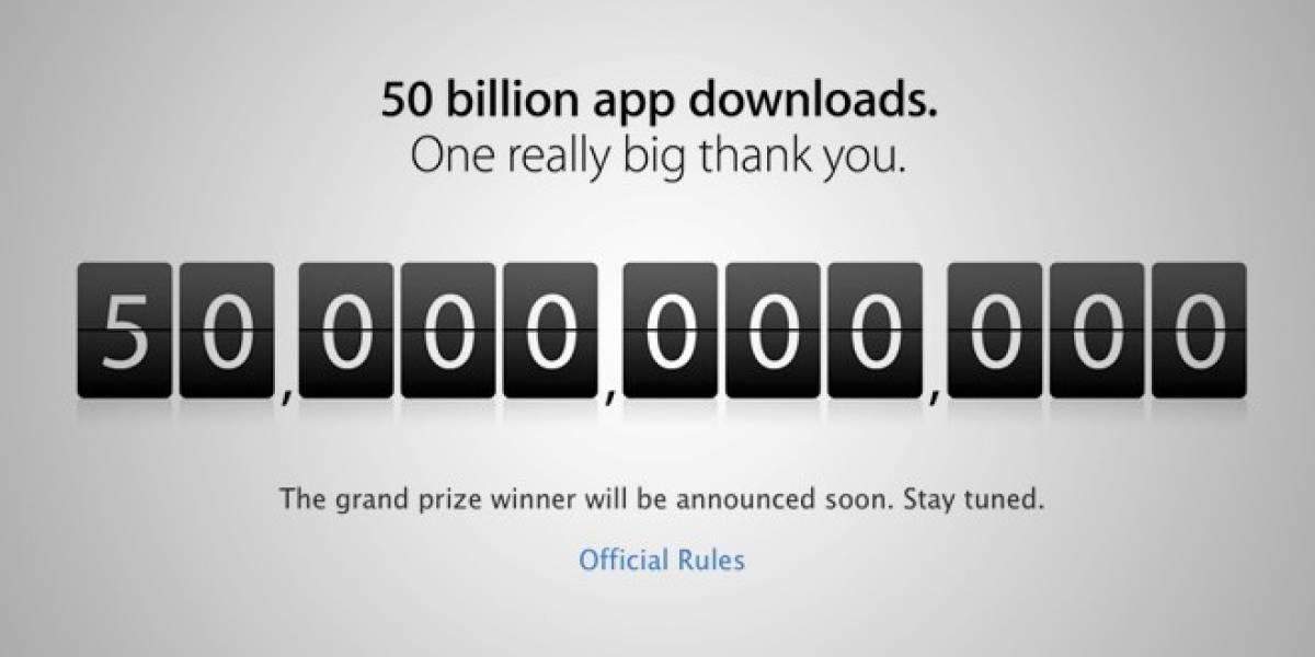 Apple consigue llegar a las 50.000 millones de descargas en la App Store