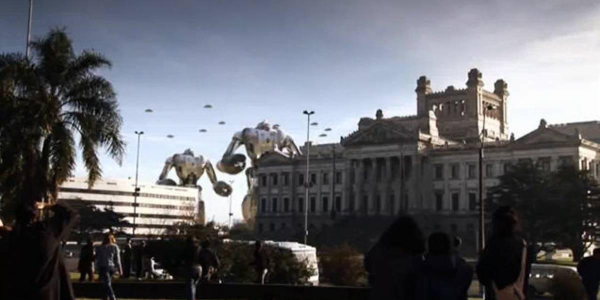 Ataque de Pánico: Cortometraje de robots gigantes invadiendo Uruguay