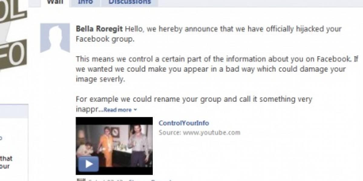 Cientos de grupos de Facebook fueron hackeados
