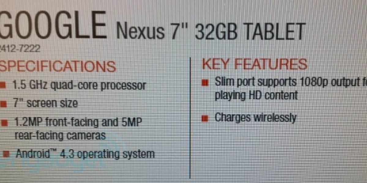 El nuevo Nexus 7 vuelve a filtrarse antes de su lanzamiento