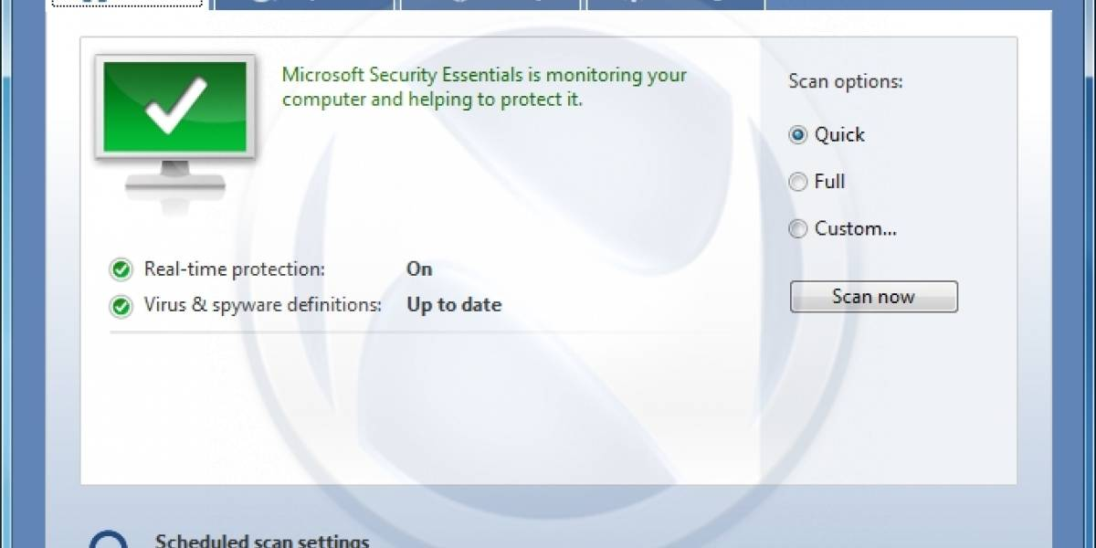Antivirus Morro será Microsoft Security Essentials