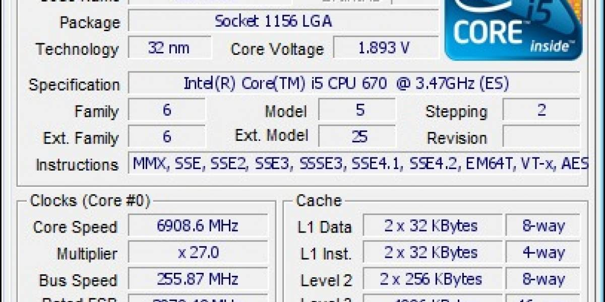 Clarkdale overclockeado a 6.9Ghz