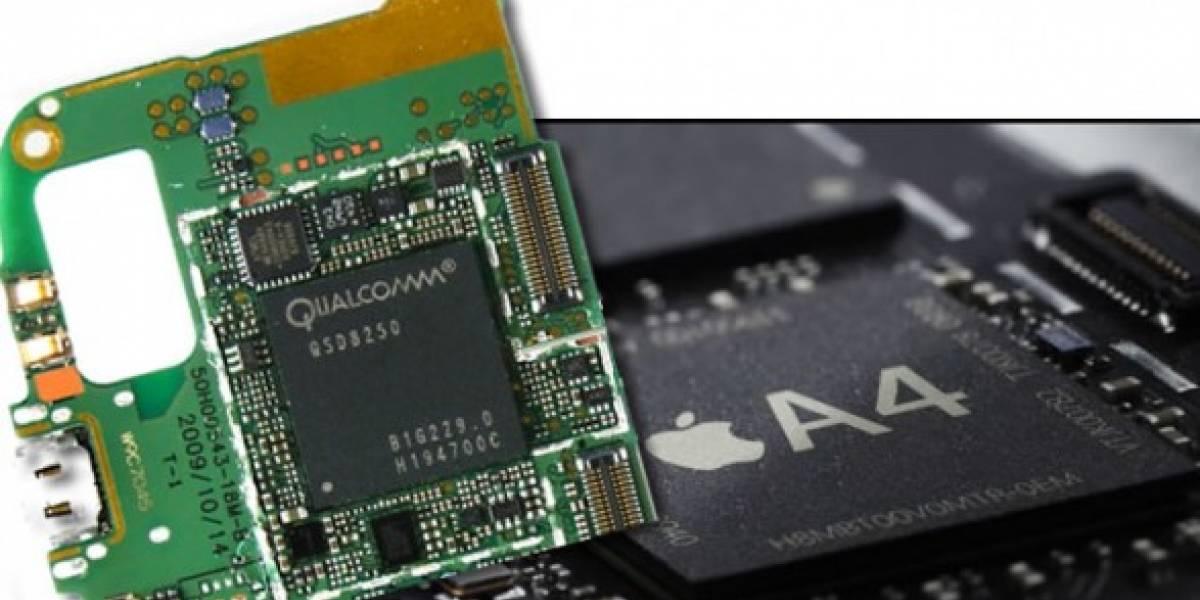 Apple A4 parece más rápido que Qualcomm Snapdragon