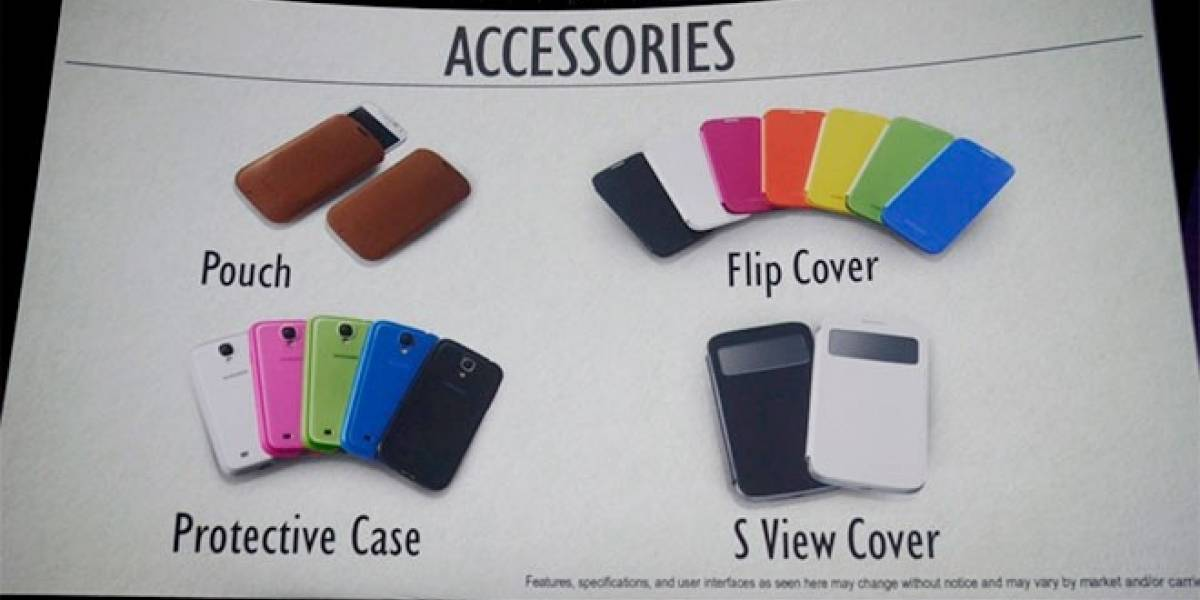 Estos son los accesorios que tendrá el Galaxy S4
