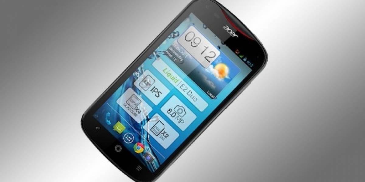 Acer lanza el Liquid E2: Un smartphone de cuatro núcleos bajo los USD$300