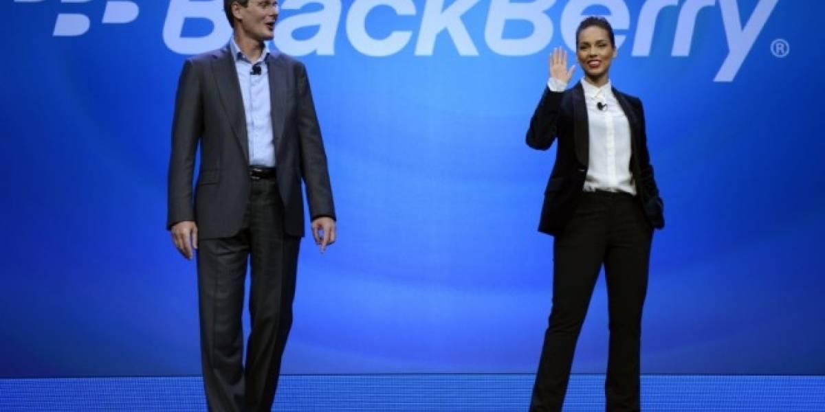 Alicia Keys, Directora Creativa Global de BlackBerry, twittea desde un iPhone