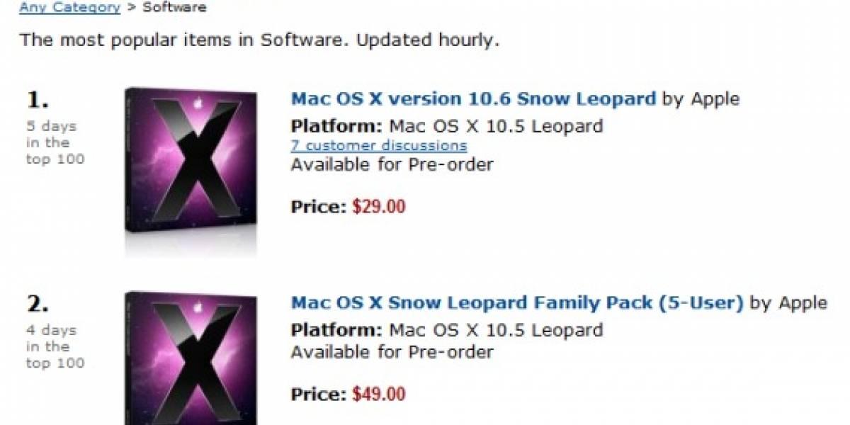 Pre-venta de Apple Snow Leopard OS X 10.6 ya es un éxito