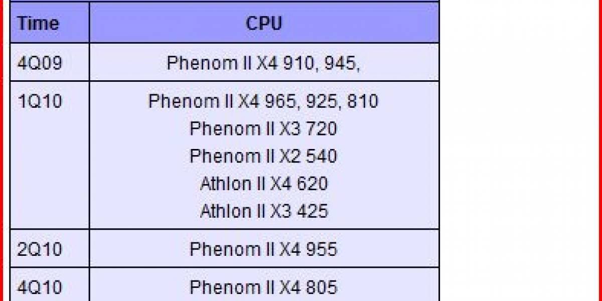 AMD actualiza EOL de algunos Phenom II
