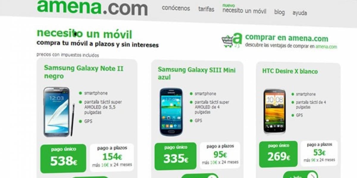 España: Operadora amena.com comienza a vender móviles en Internet