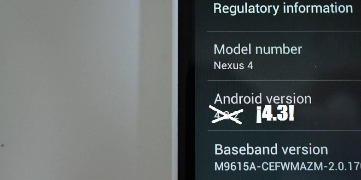 Android 4.3 confirmado por sitio de desarrolladores de Google