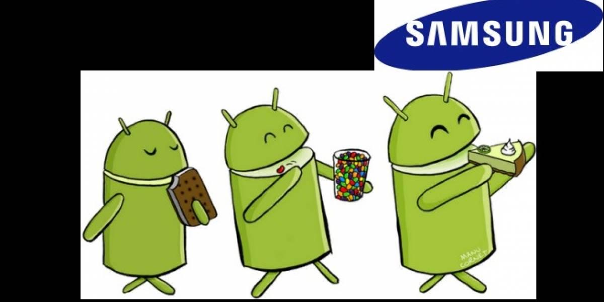 Se filtra lista de actualizaciones de Android para equipos Samsung