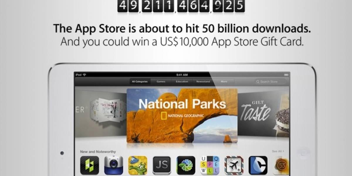 Apple regalará USD$10.000 a quien descargue la aplicación número 50.000.000.000